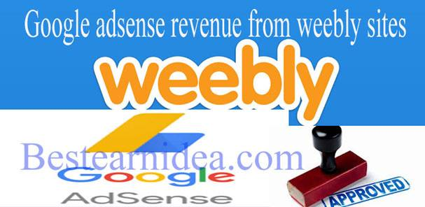 Google adsense revenue from weebly sites