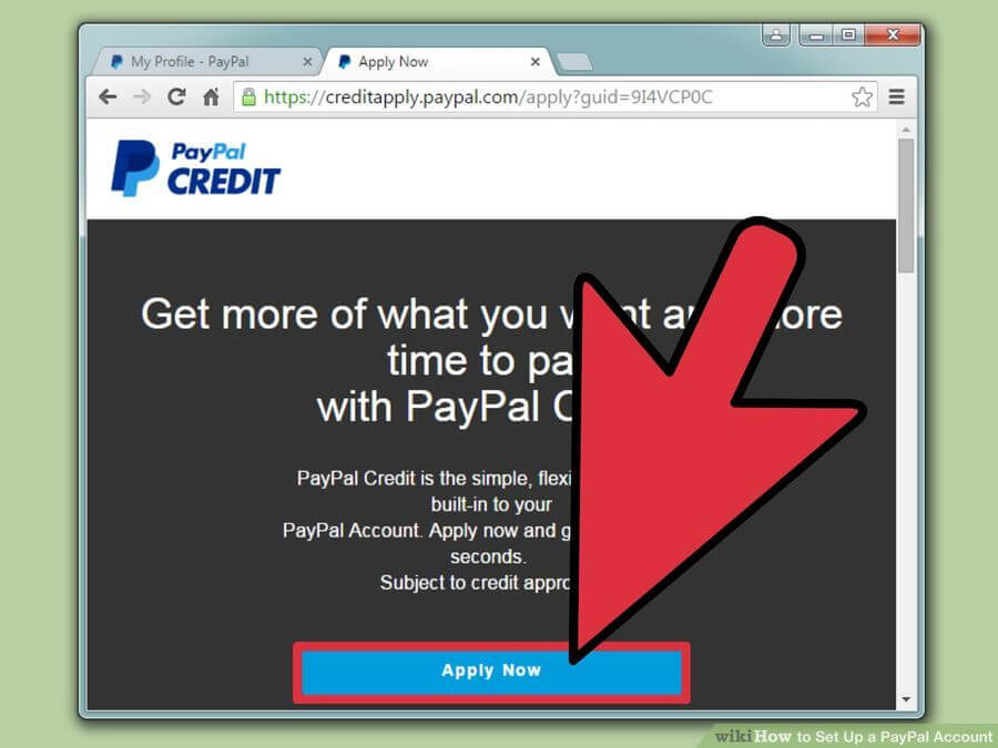 how to create paypal account with screenshot