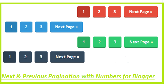 How to add next and previous pagination on blogger?