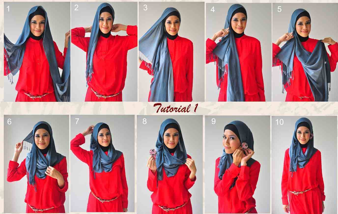 How to wear hijab in different styles
