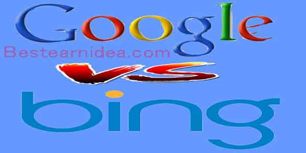What is difference Bing and Google?