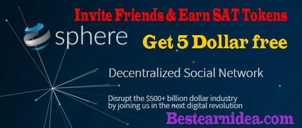 sphere social থেকে 5$ এর SAT ফ্রী নিন