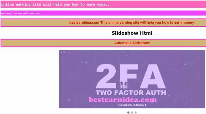 Automatic Slideshow-bestearnidea_com
