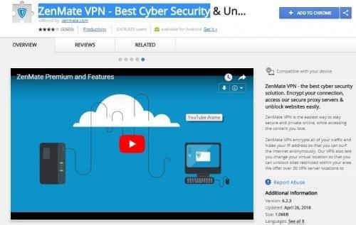 ZenMate VPN - Best Cyber Security