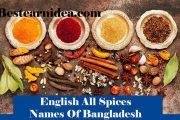 সকল মসলার ইংরেজী নাম || English All Spices Names Of Bangladesh