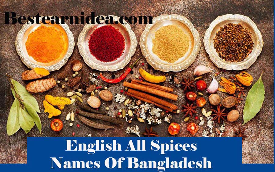 English Names Of All Spices