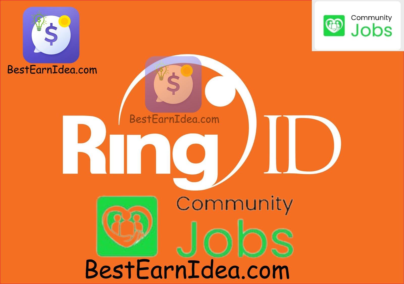Ring id community jobs রিং আইডি প্রতি মাসে ১৫ হাজার টাকা ইনকাম